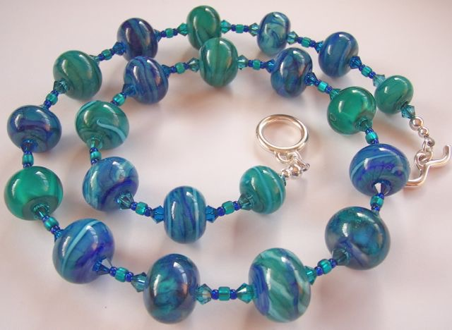 Blue Sea Patterns Necklace